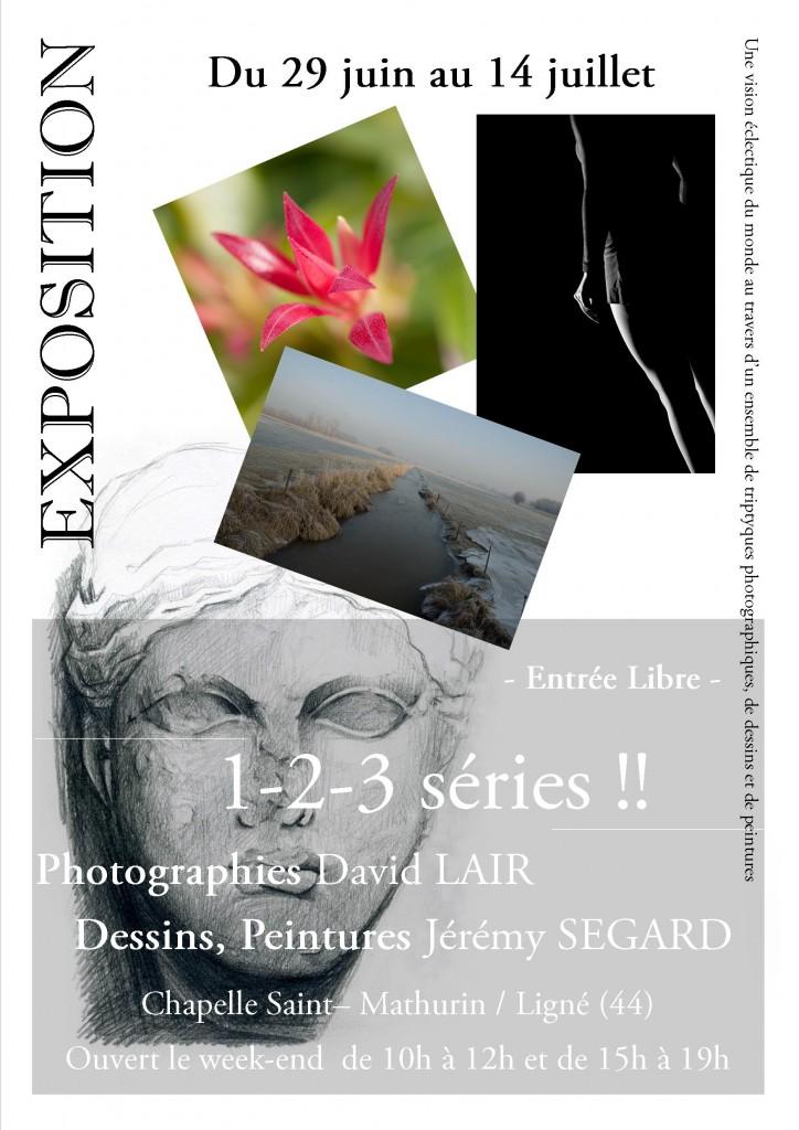 Affiche exposition David Lair à Ligné