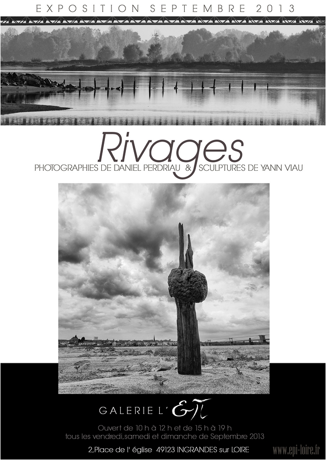 Affiche exposition Rivages