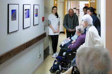 L'exposition «Mouvements» à la résidence Les Rives de l'Auxence à Belligné