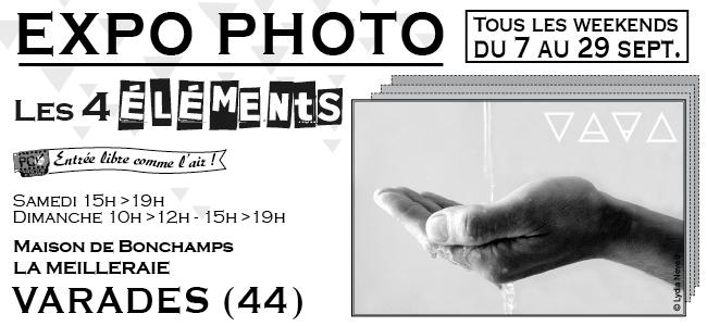 Exposition du photo club de Varades, les 4 éléments